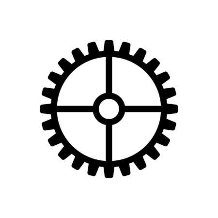 Gear icon, flat design style, vector illustration