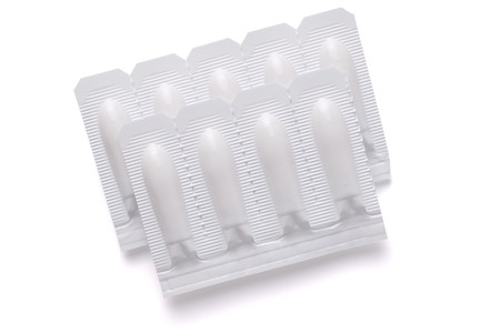 Isolated Suppository Pill, Rectal or Vaginal. 스톡 콘텐츠