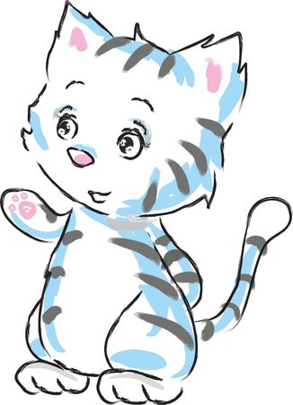 animation lovely kitten.