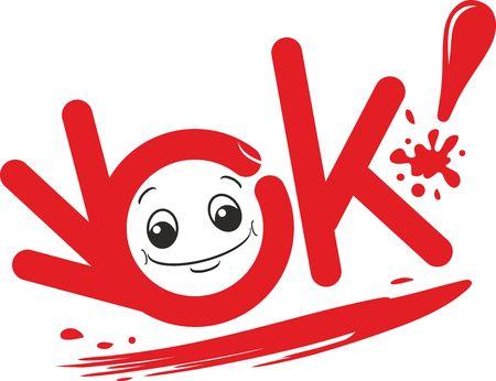OK emotion smile icon