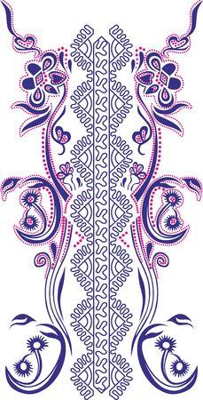 Ornament for women's T-shirt in Celtic style, glitter  일러스트