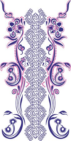 Ornament for womens T-shirt in Celtic style, glitter