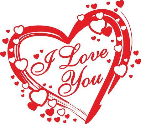 romantisch hart voor Valentijnsdag