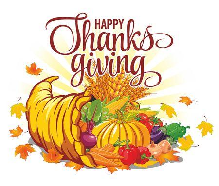 Thanksgiving Day - autumn harvest from cornucopia