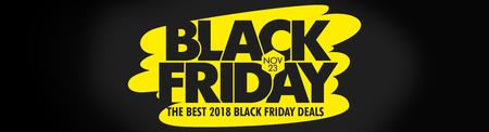Black Friday Sale Vector Background - Illustration Banner - Sign, Web Banner, 23 November - calendar date, Sale, Typescript, Discount Store