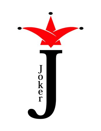Joker sign - J for Jester, card symbol