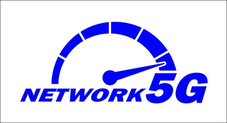 High speed network internet 5G icon design. Illustration, vector
