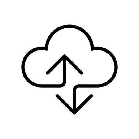 Cloud Computing line icon. Editable Stroke, transparent background, vector