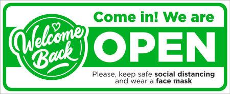 Open sign on the front door come in, we