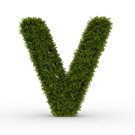Gras letter isolated on white background 3D Illustration