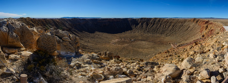 Meteor Crater panoramic view, in Winslow, Arizona, USA Archivio Fotografico
