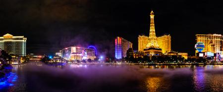 Night street of Las Vegas Vegas, USA, Nevada. Most popular place in USA