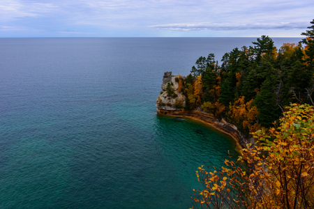Miners Castle cliff in Pictured Rocks National Lakeshore, Munising, MI, USA