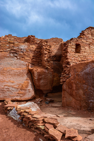 Ancient ruins complex. Wupatki National Monument in Arizona, USA Reklamní fotografie