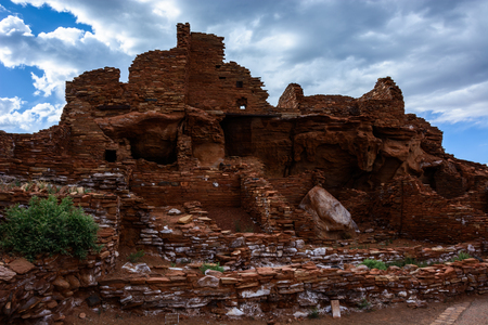 View of Ancient ruins complex. Wupatki National Monument in Arizona, USA