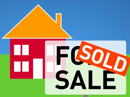 House for sale (sold house) Stock Photo