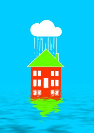 Insurance - Water damage in your home (flood, hurricane, tornado) Stock Photo - 1092954