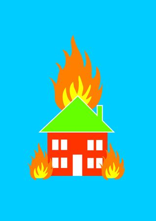 Insurance - Fire damage and smoke damage in your home or business Stock Photo - 1092955