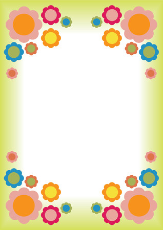 Retro Flower frame Stock Vector - 1156055