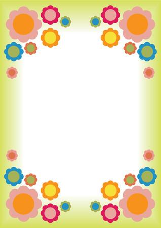 pictureframe: Retro Flower frame