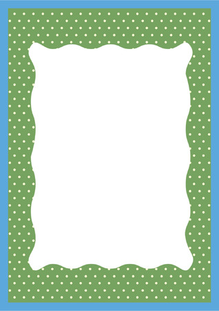 greetingcard: You can use this border with polkadots as a background for letters, mail, invitations, giftcards or as a picture-frame Illustration