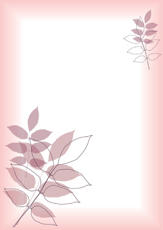 You can use this foliage border as a background for letters mail invitations giftcards or as a picture-frame Vector