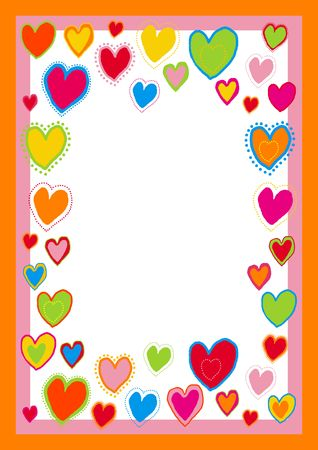 greetingcard: You can use this border with hearts as a background for letters, mail, invitations, giftcards or as a picture-frame.