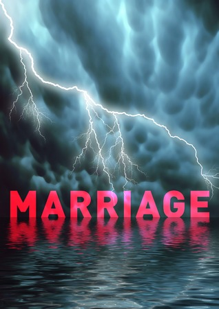 disappointment: The end of a marriage, problems, divorce Stock Photo