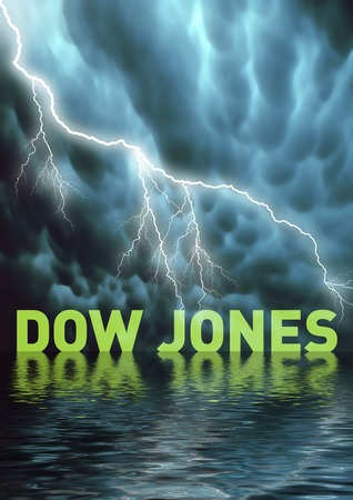 Conceptual illustration: the Dow Jones World Total Market (loss, losing) illustration