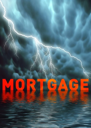 mortgage rates: Conceptual illustration: Rent or mortgage payment problems  money problems