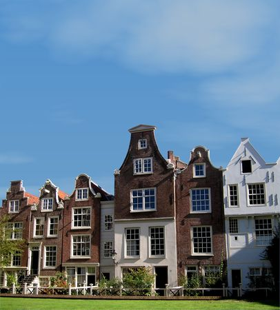 Traditional houses in Amsterdam (The Netherlands) Stock Photo