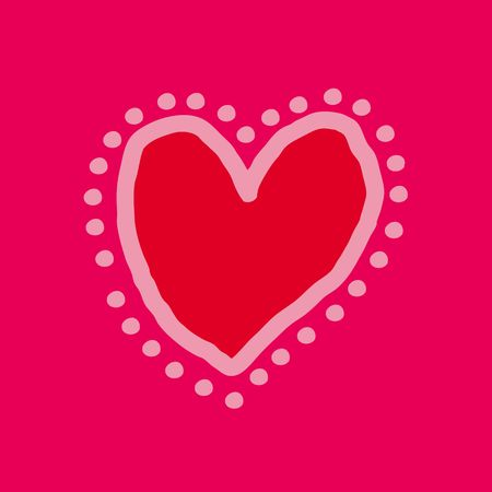 Red and pink painted heart Stock Photo - 1833766