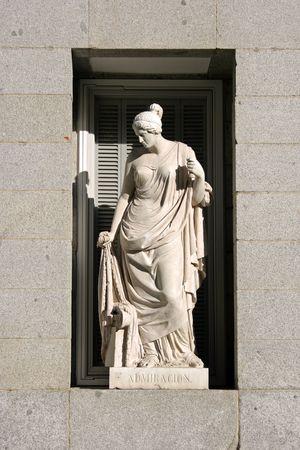 Estatua en el Museo del Prado de Madrid