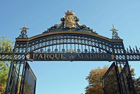 parque: Entrance of Parque del Buen Retiro (Retiro Park) in Madrid