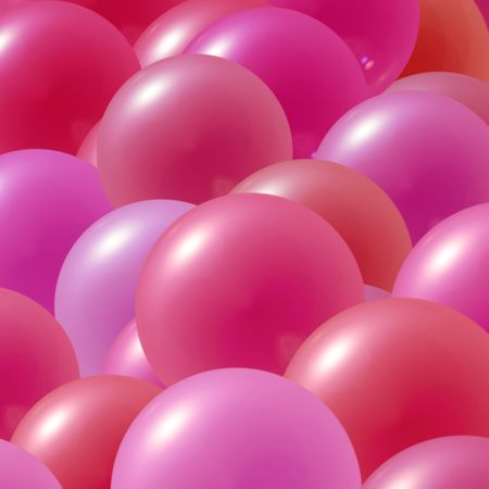 flying float: Pink and purple party balloons Stock Photo