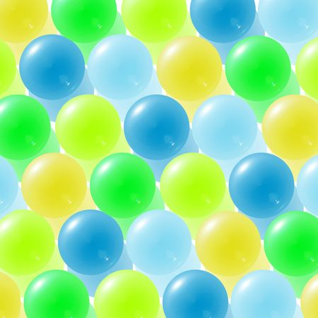 Background with yellow, green and blue glass balls Stock Photo - 2155119