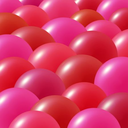 Balloons in bright pink, purple, orange and red colors Stock Photo - 2274767