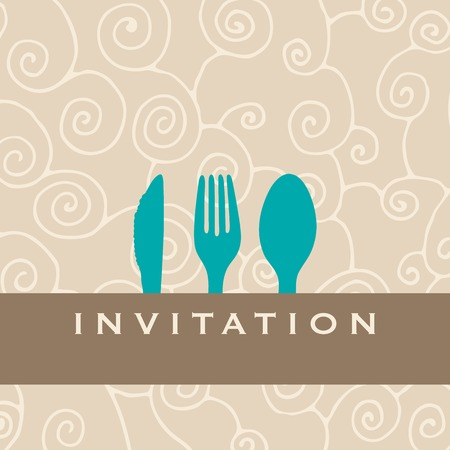 gifttag: Foodrestaurantmenu design with cutlery silhouette