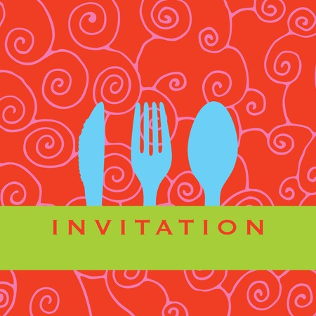 Foodrestaurantmenu design with cutlery silhouette Vector