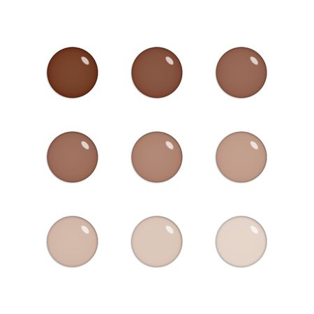 Nine shiny buttons (orbs) of glass, brown colours, isolated on white photo