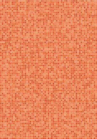 Bathroom wall with small, orange mosaic tiles Stock Photo - 2845706
