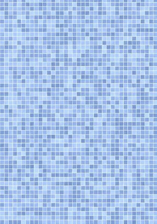 Bathroom wall with small, blue mosaic tiles Stock Photo - 2917834