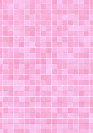 Bathroom wall with pink (different shades) mosaic tiles