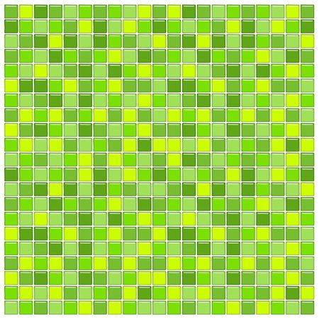 pavimento gres: Muro Bagno con piastrelle di vetro verde mosaico