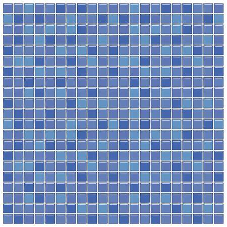 Salle de bains avec mur bleu et le violet, la mosaïque de verre