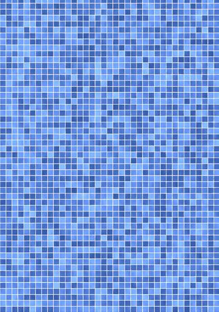 Bathroom wall with small, light and darker blue mosaic tiles Stock Photo - 2986583