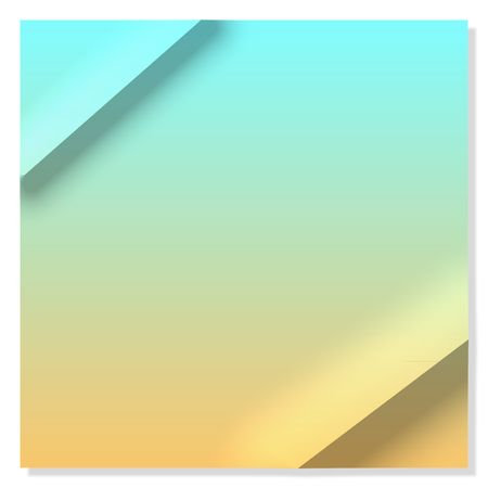 creased: Creased, gradient yellow and blue paper (note card) with copy space Stock Photo