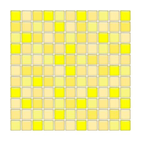 Bathroom wall with yellow glass mosaic tiles Stock Photo - 3003906