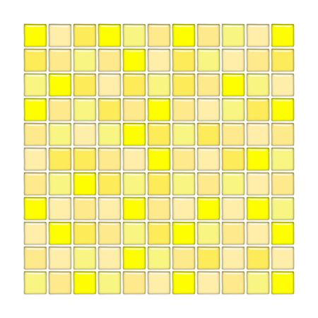 kitchen shower: Bathroom wall with yellow glass mosaic tiles
