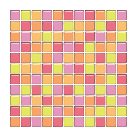Bathroom wall with pink, yellow and orange glass mosaic tiles Stock Photo - 3011729